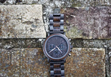 Charcoal - Handcrafted Natural Wood & Steel Wristwatch - Leathwoods