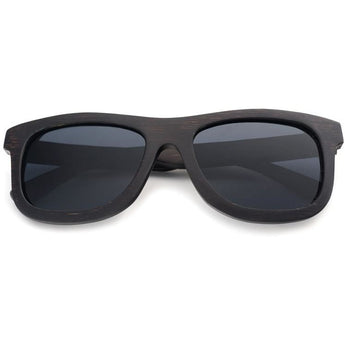 Handcrafted Ebony Wood Sunglasses - Leathwoods
