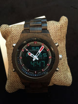 Stallion - Handcrafted Natural Wood Analog & Digital Wristwatch - Leathwoods