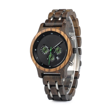 Leaf - Wood & Steel Watch for Her - Leathwoods