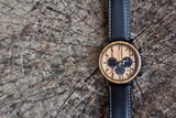 Sphinx 2 - Handcrafted Natural Wood & Steel Wristwatch - Leathwoods