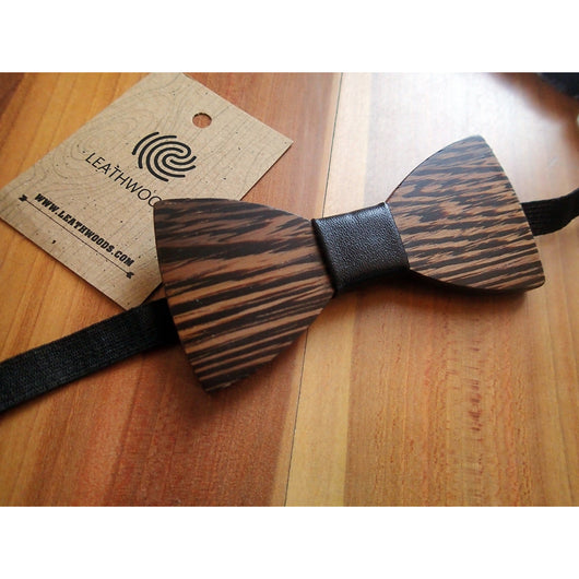 Handcrafted Wooden Bow Tie - Leathwoods