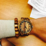 Flame - Zebrawood Wristwatch - Leathwoods