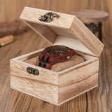 Wine - Handcrafted Natural Wood Wristwatch - Leathwoods