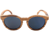 Handcrafted Zebra Wood Sunglasses - Leathwoods