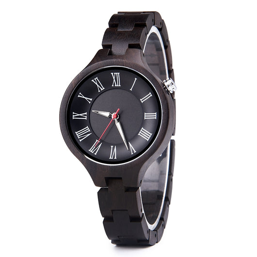 Black Viper - Wooden Watch for Women's - Leathwoods