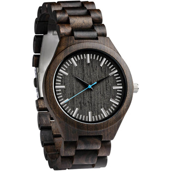 Blueberry - Handcrafted Natural Wood Wristwatch - Leathwoods