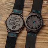 Denim - Handcrafted Natural Wood Wristwatch - Leathwoods