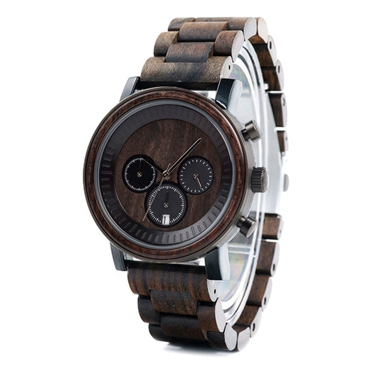 Caffè - Minimalist Wooden Watch - Leathwoods