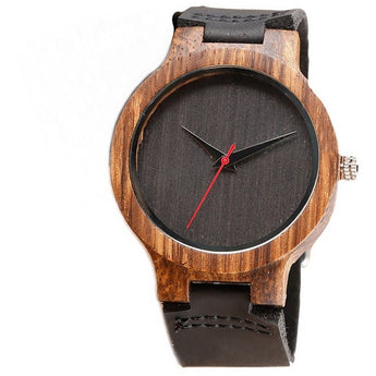 Cardinal - Handcrafted Natural Wood Wristwatch - Leathwoods