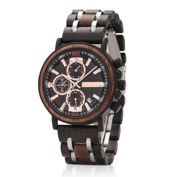 Marshal - Natural Wood & Steel Wristwatch - Leathwoods