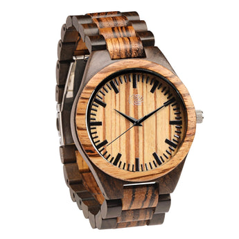 Finch - Handcrafted Natural Wooden Watch - Leathwoods