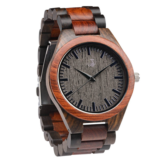 Garnet - Handcrafted Natural Wood Wristwatch - Leathwoods