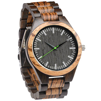 Lime - Natural Wood Watch - Leathwoods