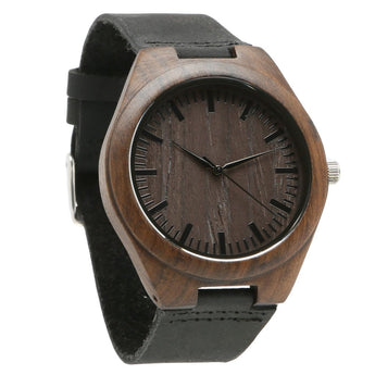 Brun - Minimalist Wood Watch - Leathwoods