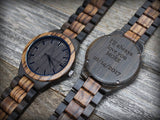 Zebrano - Handcrafted Natural Wooden Watch - Leathwoods