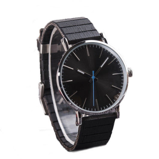 Blue Jay - Wood & Steel Minimalist Watch - Leathwoods