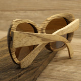 Handcrafted Natural Zebra Wood Sunglasses - Leathwoods