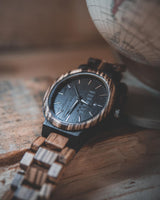 Desert - Handcrafted Natural Wood Wristwatch - Leathwoods