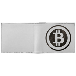 Bitcoin Distressed Logo Wallet