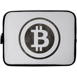 Bitcoin Distressed Logo Laptop Sleeve - 10 inch