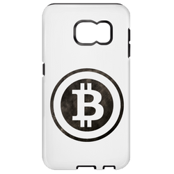 Bitcoin Distressed Logo Samsung Galaxy S7 Tough Case
