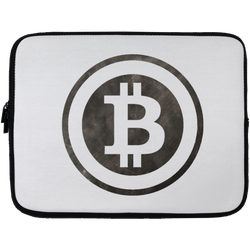 Bitcoin Distressed Logo Laptop Sleeve - 13 inch