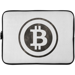 Bitcoin Distressed Logo Laptop Sleeve - 15 Inch