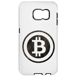 Bitcoin Distressed Logo Samsung Galaxy S6 Tough