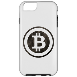Bitcoin Distressed Logo iPhone 6 Tough Case