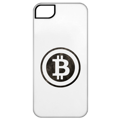 Bitcoin Distressed Logo iPhone 5 Tough Case