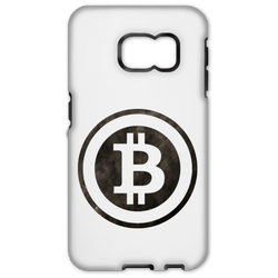 Bitcoin Distressed Logo Samsung Galaxy S6 Edge Rugged Case