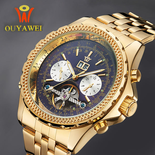 OUYAWEI Tourbillon Male Wrist Watch