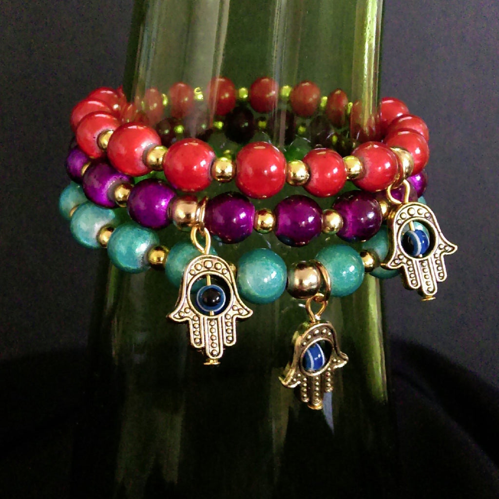 Wonder Bracelet // Stackable Bracelets // Acrylic Beaded Bracelet