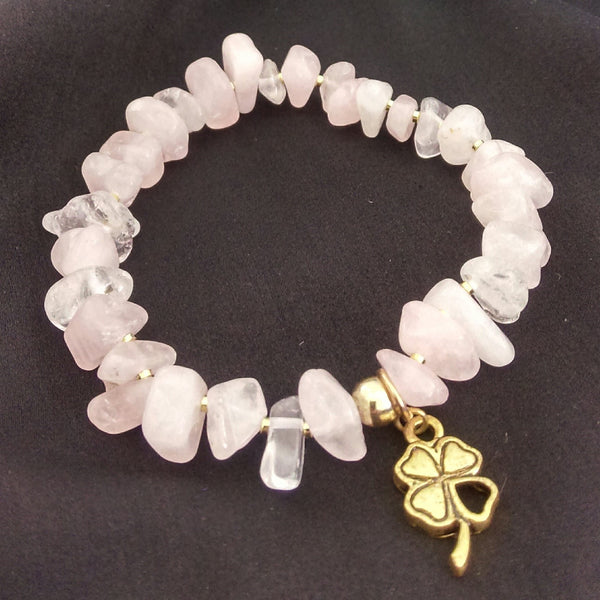 Rose Quartz Stretch Bracelet // Stackable Bracelets // Gemstone Bracelet