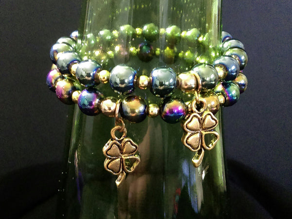 Lucky Charm Bracelet // Glass Beaded Bracelet