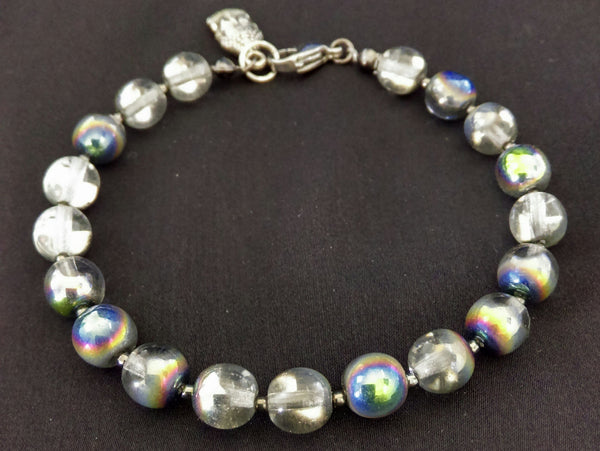 Clear Vitrail Bracelet // Glass Beaded Bracelet