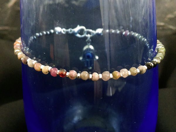 Multi Tourmaline Bracelet // Watermelon Tourmaline // Gemstone Bracelet