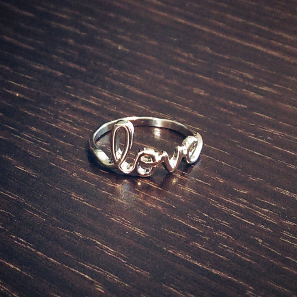 Love Ring // Stainless Steel Ring // Stackable Ring