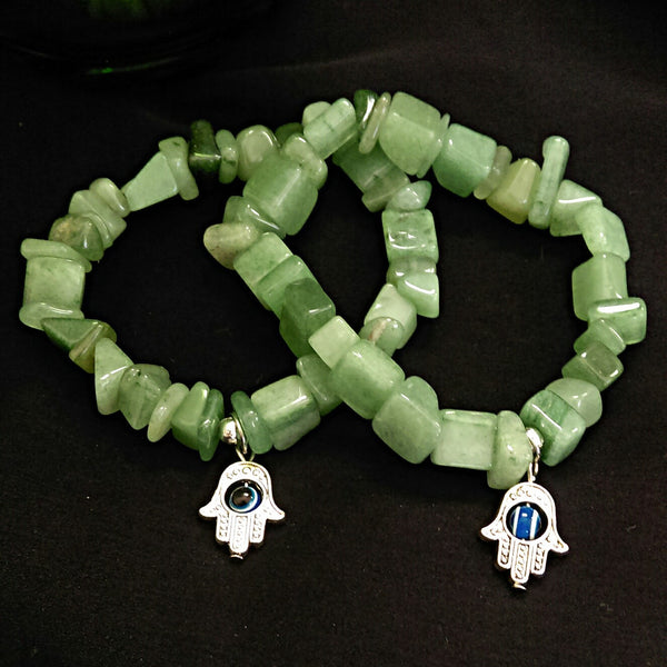 Green Aventurine Stretch Bracelet // Gemstone Bracelet