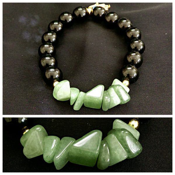 Natural Stone Stretch Bracelet // Gemstone Bracelet