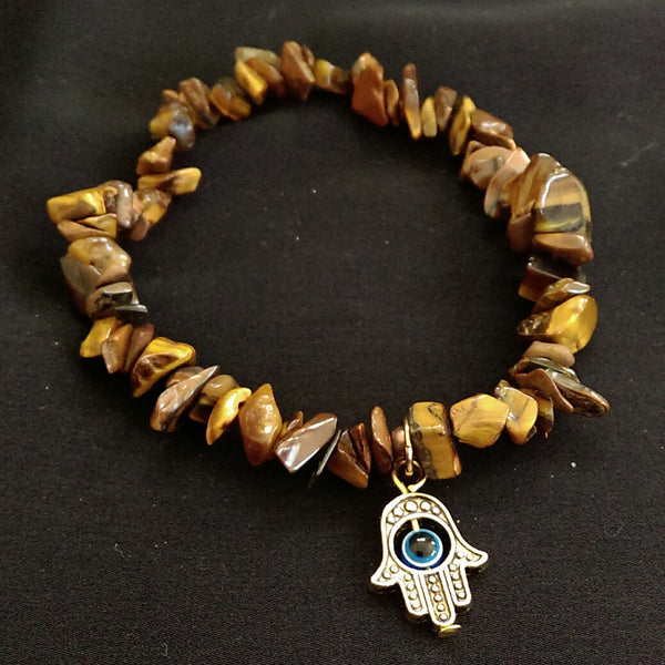 Tiger's Eye Stretch Bracelet // Gemstone Bracelet