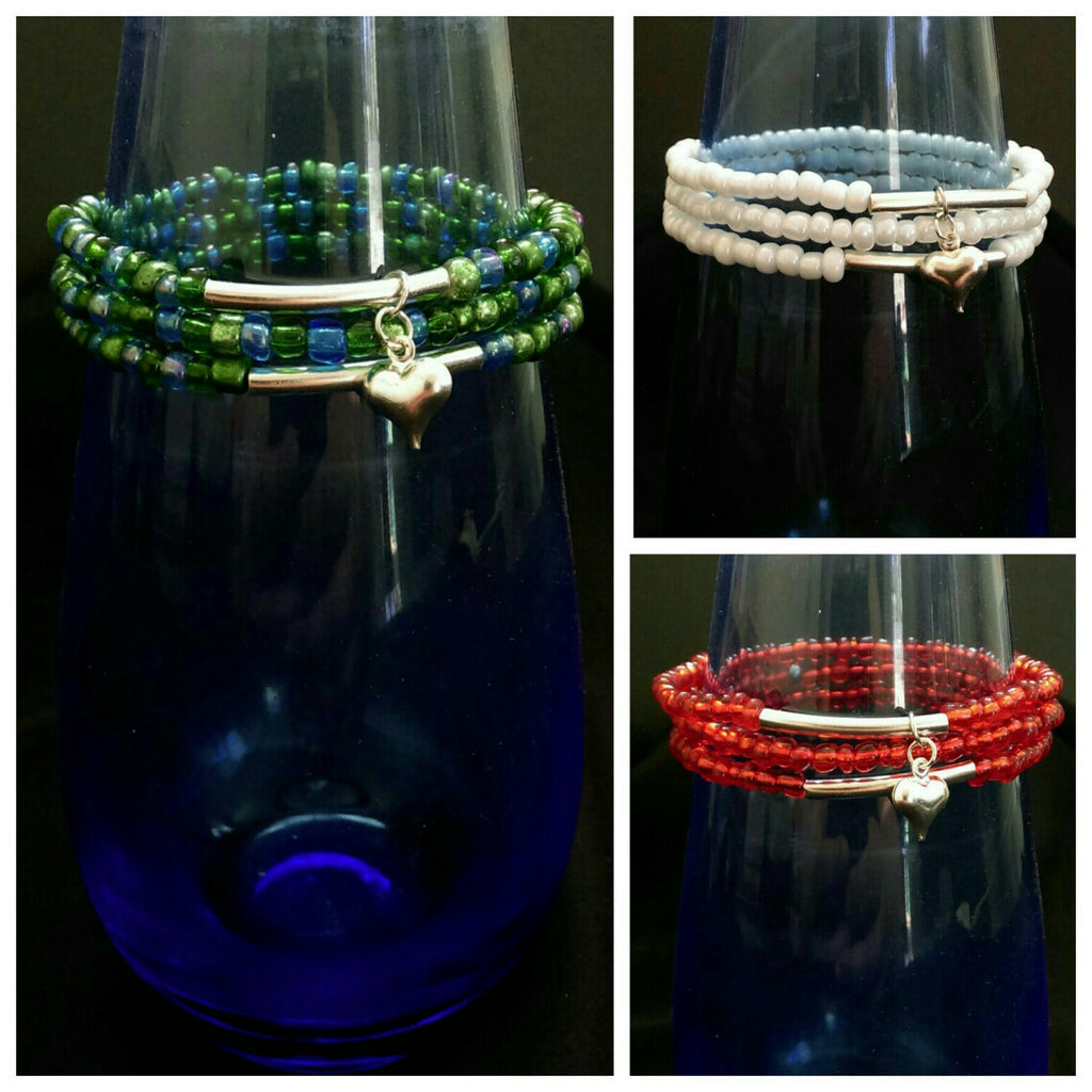 Stretchy Bracelet Set // Glass Seed Beaded Bracelet