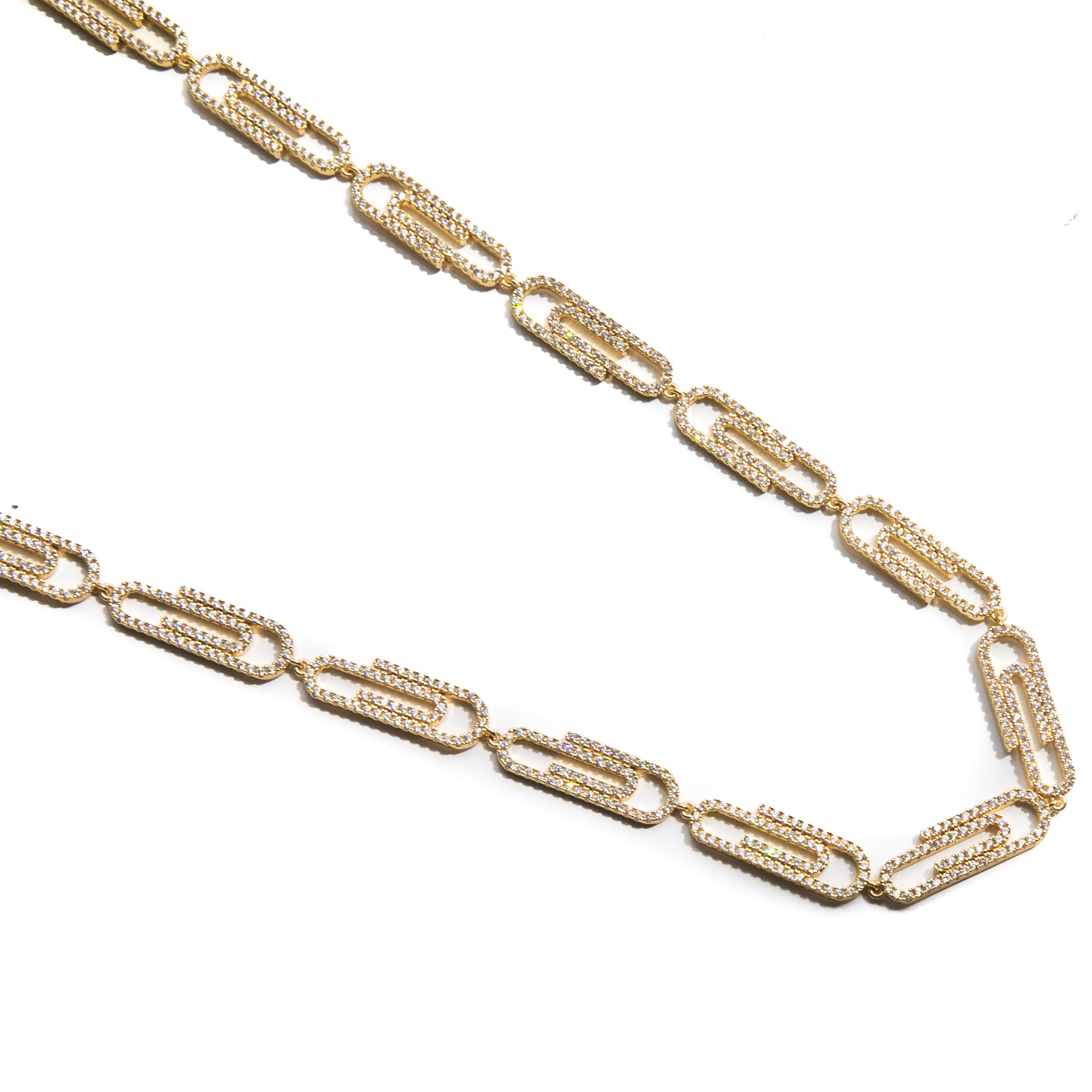 Paper Clip Necklace - ACCESSORIES, Golden Gilt, SNEAKER STUDIO, GOLDEN GILT, DESIGN BY TSS