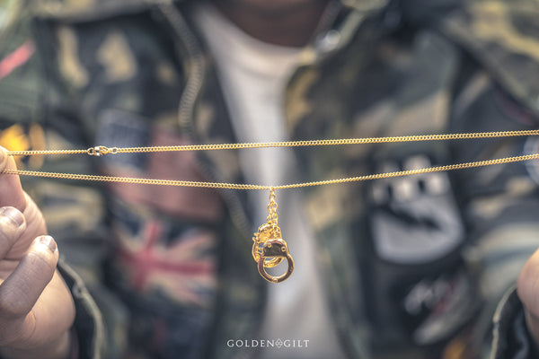 Cuff Pendant - ACCESSORIES, Golden Gilt, SNEAKER STUDIO, GOLDEN GILT, DESIGN BY TSS