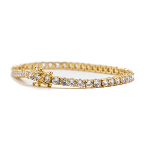 TENNIS BRACELET - 18K Gold Plated - ACCESSORIES, Golden Gilt, SNEAKER STUDIO, GOLDEN GILT, DESIGN BY TSS