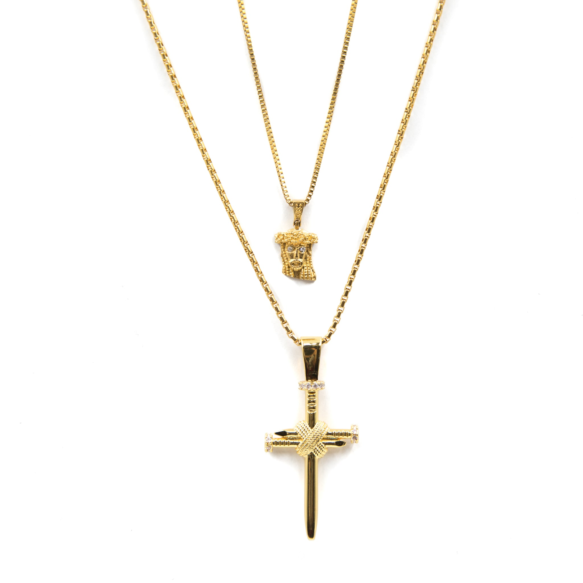 Extra Mini Jesus & Nail Bundle - , Golden Gilt, SNEAKER STUDIO, GOLDEN GILT, DESIGN BY TSS