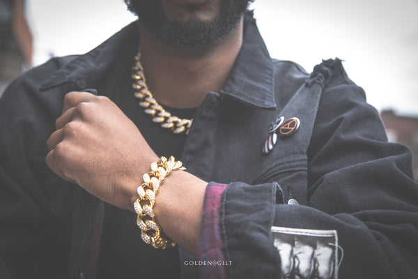 Studded Cuban Bundle Pack - ACCESSORIES, Golden Gilt, SNEAKER STUDIO, GOLDEN GILT, DESIGN BY TSS
