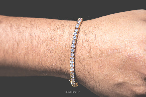 TENNIS BRACELET - 18K Gold Plated