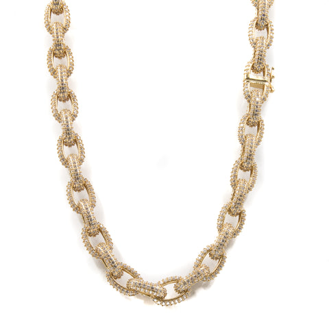 Studded Chain Link Rolo Choker Necklace - 18K Gold Plated - ACCESSORIES, Golden Gilt, SNEAKER STUDIO, GOLDEN GILT, DESIGN BY TSS